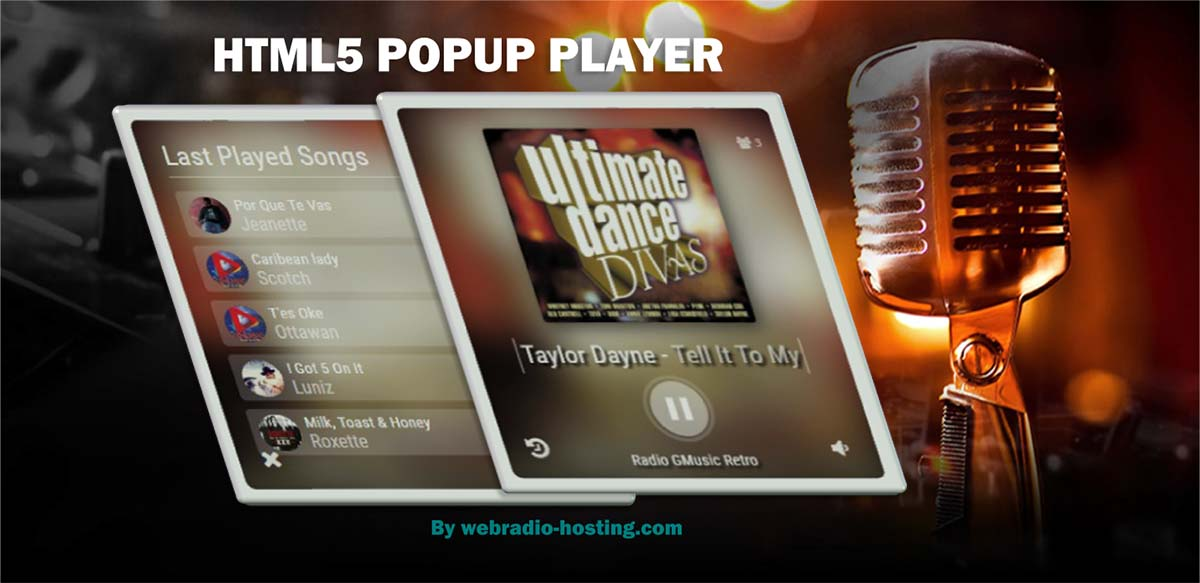 HTML5 Popup Player