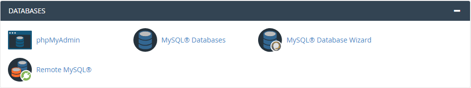 cPanel Database Managment