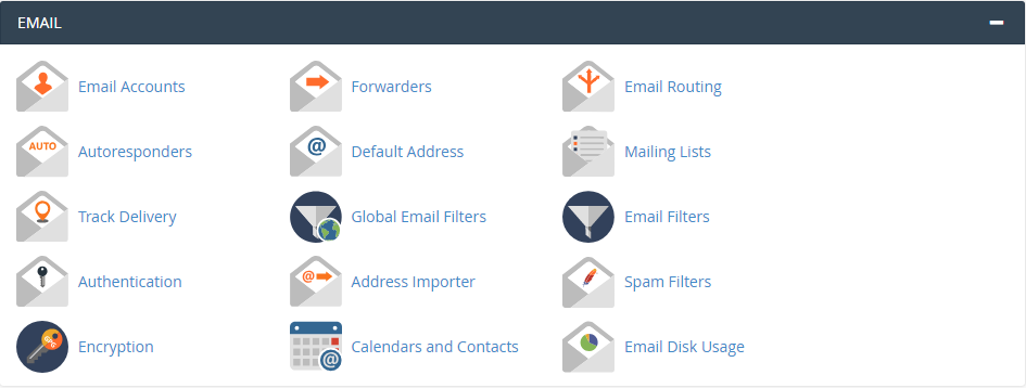 cpanel E-Mail Management