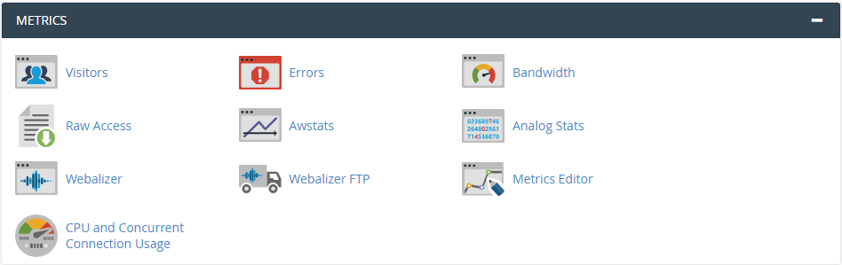 cPanel Metrics - Logs and Reports