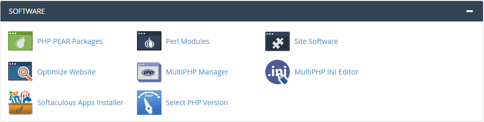 cPanel Software & Scripts