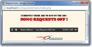 Live request static button