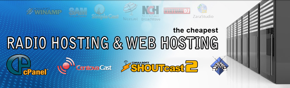 Radio Hosting, Web Hosting and Domain Registration for your Radio Station.