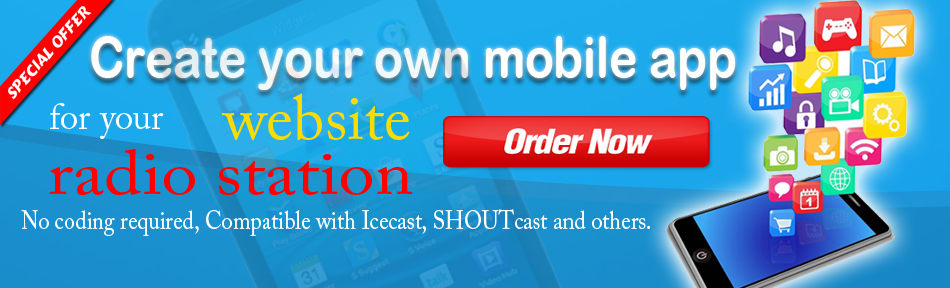 We create your own radio mobile application !